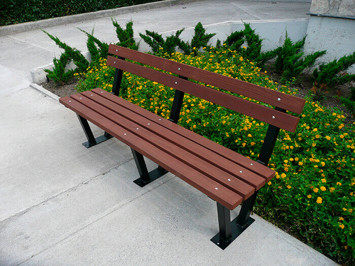 Recycled Plastic Bench B-064